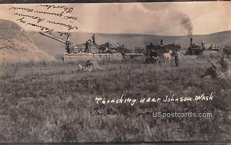 Trashing - Johnson, Washington WA Postcard