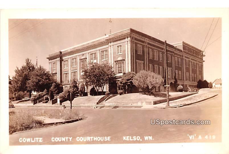 Cowlitz County Courthouse - Kelso, Washington WA Postcard