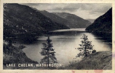 Lake Chelan - Washington WA Postcard