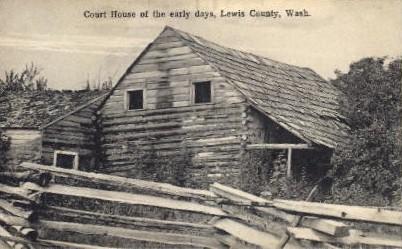 Court House - Lewis County, Washington WA Postcard