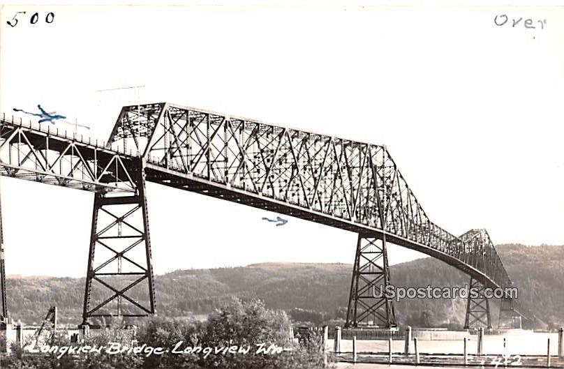 Longview Bridge - Washington WA Postcard