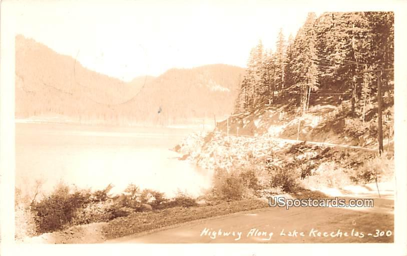 Highway - Lake Keechelas, Washington WA Postcard