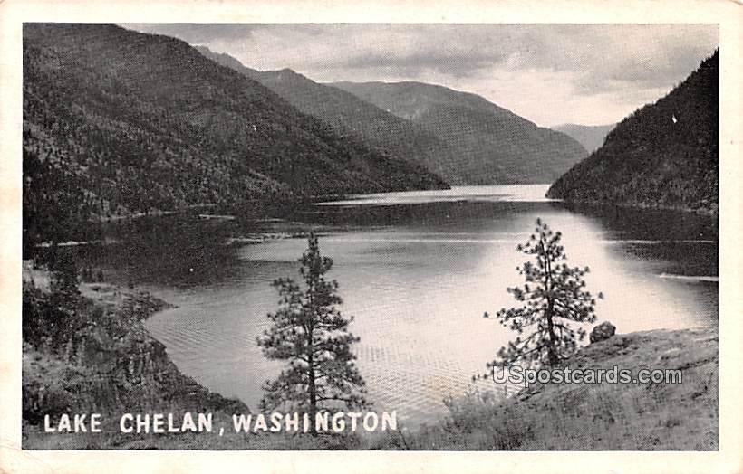 Lake View - Lake Chelan, Washington WA Postcard
