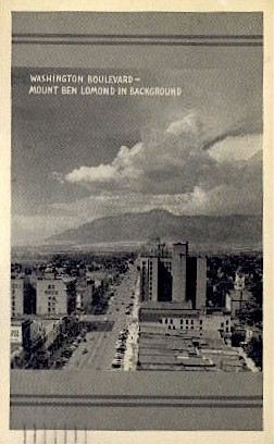 Washington Boulevard - Mt. Ben Lomond Postcard