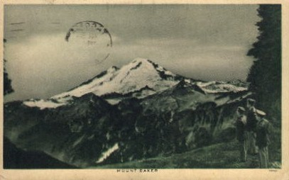 Mount Baker - Washington WA Postcard