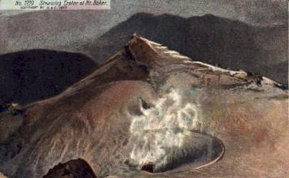 Steaning Crater - Mount Baker, Washington WA Postcard