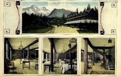 National Park Inn - Mt. Rainer National Park, Washington WA Postcard