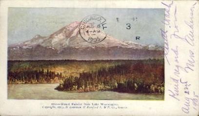 Lake Washington - Mt. Rainer National Park Postcard
