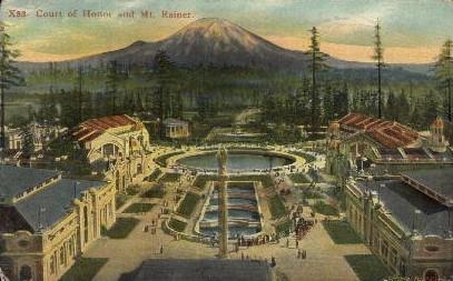 Court of Honor - Mt. Rainer National Park, Washington WA Postcard