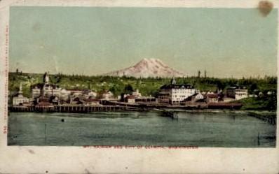 Olympia - Mt. Rainer National Park, Washington WA Postcard