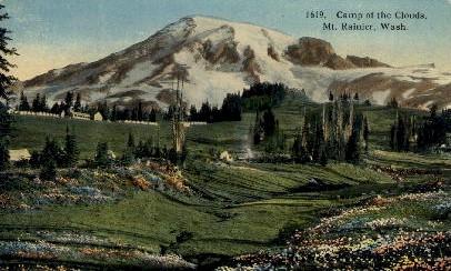Camp of the Clouds - Mt. Rainer National Park, Washington WA Postcard