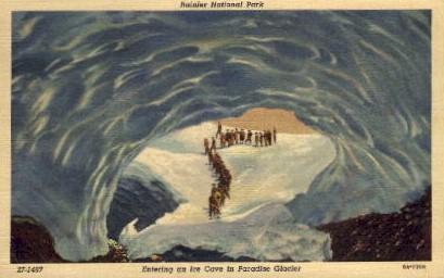 Ice Cave in Paradise Glacier - Mt. Rainer National Park, Washington WA Postcard