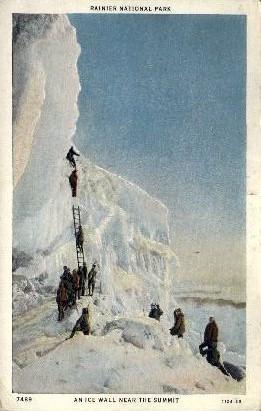 Ice Wall - Mt. Rainer National Park, Washington WA Postcard