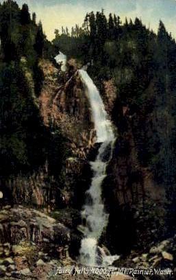 Fairy Falls - Mt. Rainer National Park, Washington WA Postcard