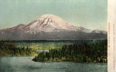 Mt. Ranier - Mt. Rainer National Park, Washington WA Postcard
