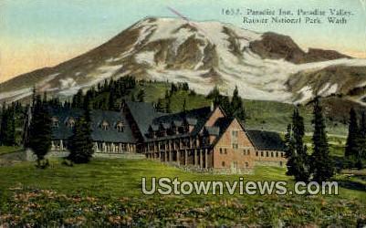 Paradise Inn, Valley - Rainier National Park, Washington WA Postcard