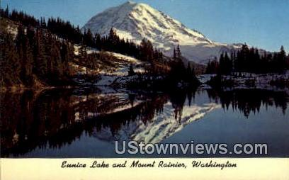 Eunice Lake - Mt Rainier, Washington WA Postcard