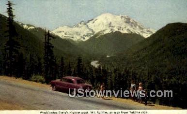 Yakima side - Mt Rainier, Washington WA Postcard