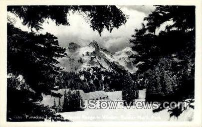 Real Photo - Paradise Inn - Rainier National Park, Washington WA Postcard