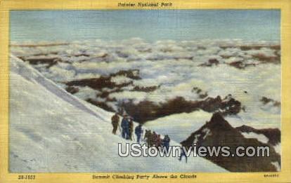 Summit Climbing Party - Rainier National Park, Washington WA Postcard
