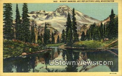 Reflection Lake - Mt Rainier, Washington WA Postcard