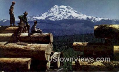 Northwest Harvest - Mt Rainier, Washington WA Postcard