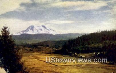 Ohop Valley - Mt Rainier, Washington WA Postcard