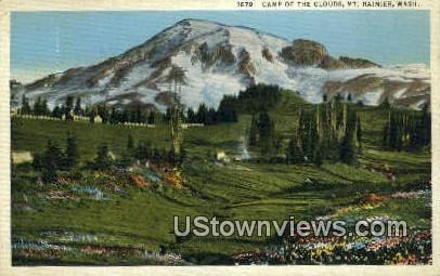 Camp of the Clouds - Mt Rainier, Washington WA Postcard