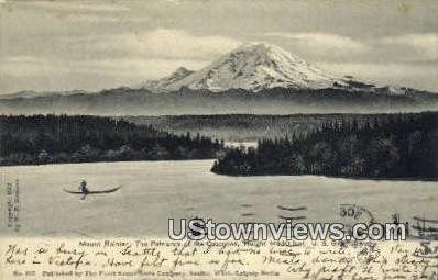 Patriarch of the Cascades - Mt Rainier, Washington WA Postcard