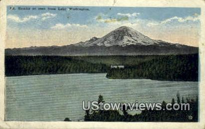 Lake Washington - Mt Rainier Postcard