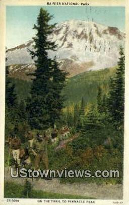 Pinnacle Peak - Rainier National Park, Washington WA Postcard