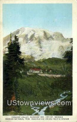 Paradise Valley - Rainier National Park, Washington WA Postcard