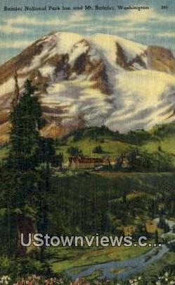 Rainier National Park Inn - Mt Rainier, Washington WA Postcard