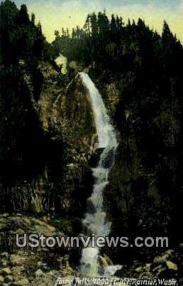 Fairy Falls - Mt Rainier, Washington WA Postcard
