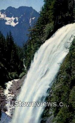 Narada Falls - Mt. Rainier National Park, Washington WA Postcard