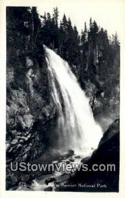 Real Photo - Narada Falls - Rainier National Park, Washington WA Postcard