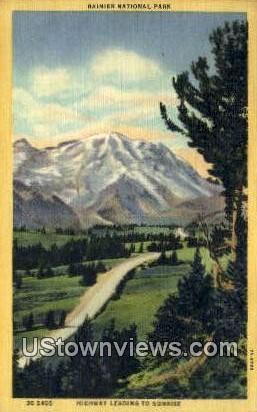Rainier National Park, Wash,     ;     Rainier National Park, WA - Washington WA Postcard