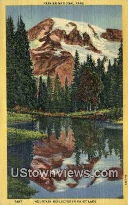 Rainier National Park, Washington,     ;     Rainier National Park, Wash Postcard