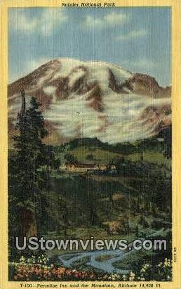 Paradise Inn - Rainier National Park, Washington WA Postcard