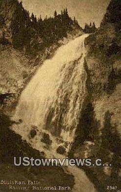 Sluiskan Falls - Rainier National Park, Washington WA Postcard