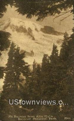 Alta Vista - Rainier National Park, Washington WA Postcard