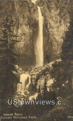 Comet Falls - Rainier National Park, Washington WA Postcard