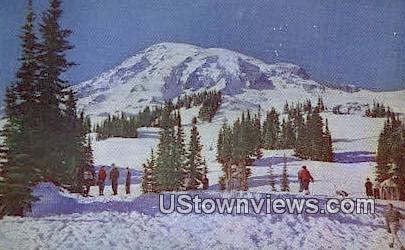 Paradise Inn - Mt Rainier, Washington WA Postcard