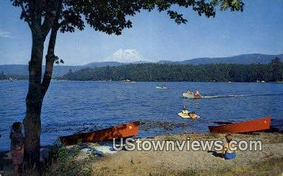 Ohop Lake - Mt Rainier, Washington WA Postcard