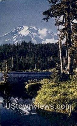 Seattle - Mt Rainier, Washington WA Postcard