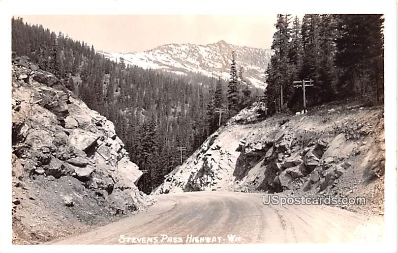 Stevens Pass Highway - Monroe, Washington WA Postcard