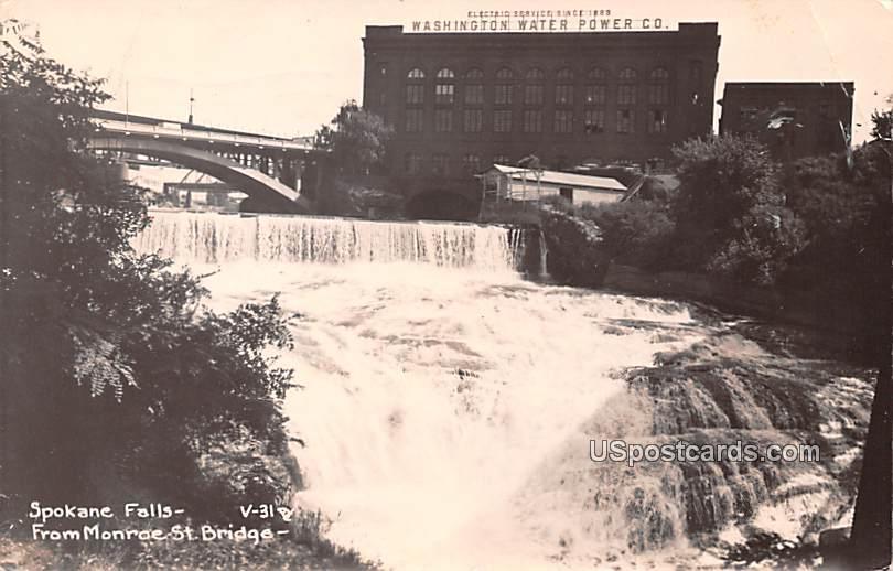 Spokane Falls - Monroe, Washington WA Postcard