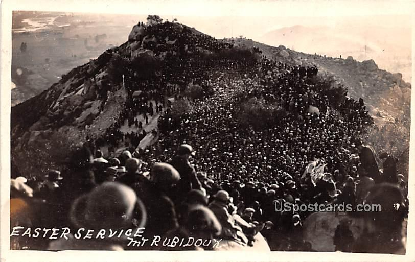 Easter Service - Mount Rubidoux, Washington WA Postcard