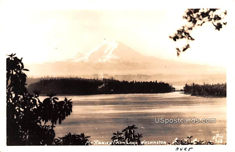 From Lake Washington - Mount Rainier Postcard