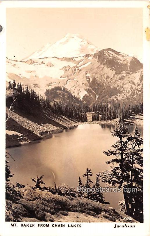 From Chain Lakes - Mount Baker, Washington WA Postcard